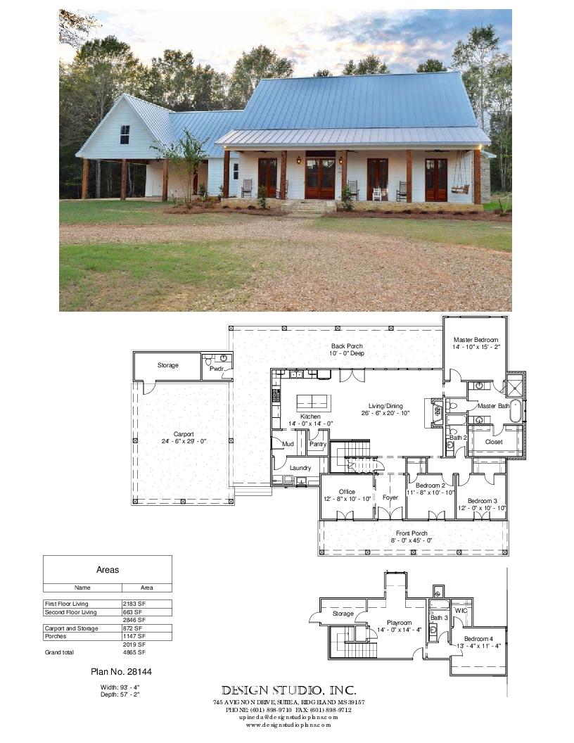 Plan 28144 Design Studio