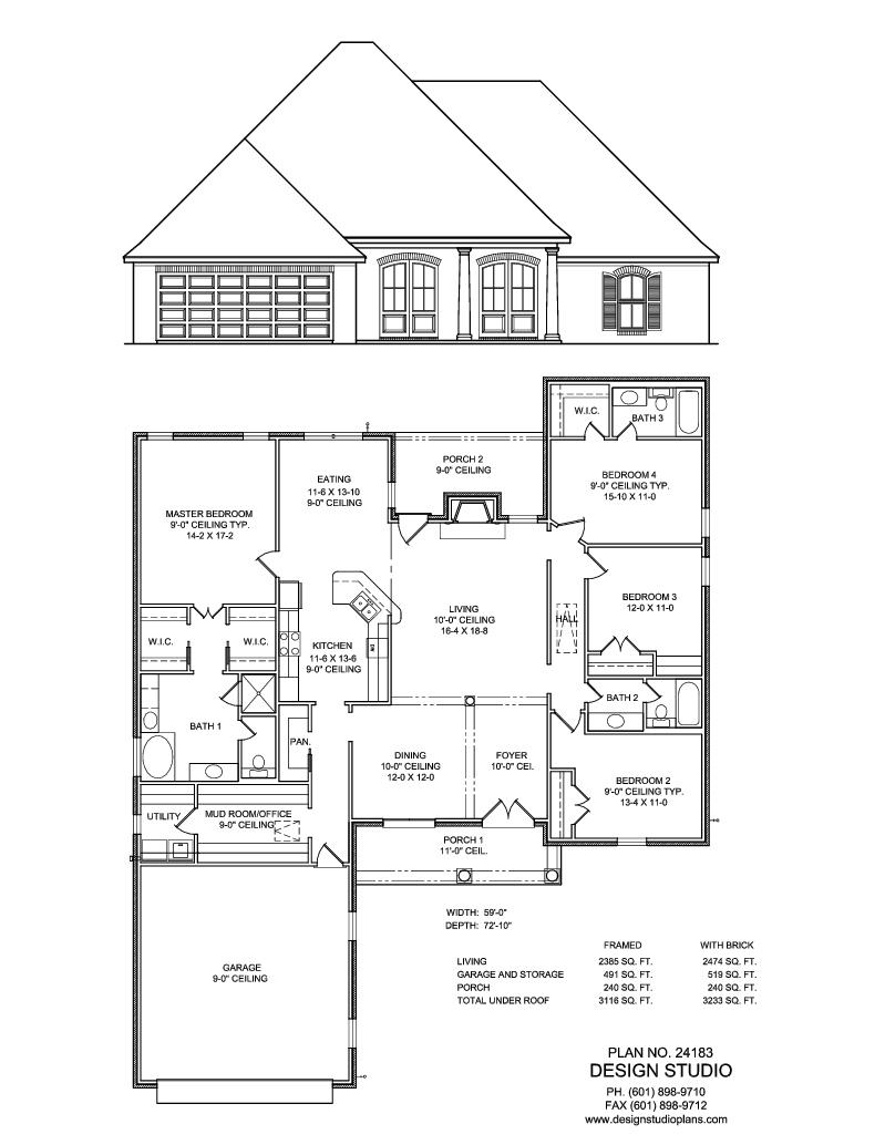 Plan 24183 Design Studio